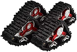 YOYOTOY 4Pcs 1/10 Rc Crawler Snow Tires Track Wheels for Trx4 Gen8 Truck Car Parts New Must Haves 2 Year Old Girl Gifts The Favourite Comic 4T Superhero Unboxing Box