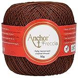 Anchor Freccia 12 fils à crochet 100% coton, Coton, 00359 marron, braun
