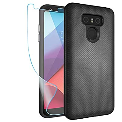 LG G6 Case,LG G6 Gear Textured Case with HD Screen Protector,NiuBox Slim Fit Dual Layer [PC + TPU Hybrid] Anti-Slip Shock Absorption Protective Phone Case Cover for LG G6 (Verizon 2017)