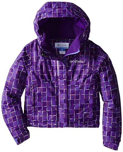 Columbia Sportswear Flurry Flash - Giacca da ragazza, Bambina, Flurry Flash Jacket, Stampa loto viola., S