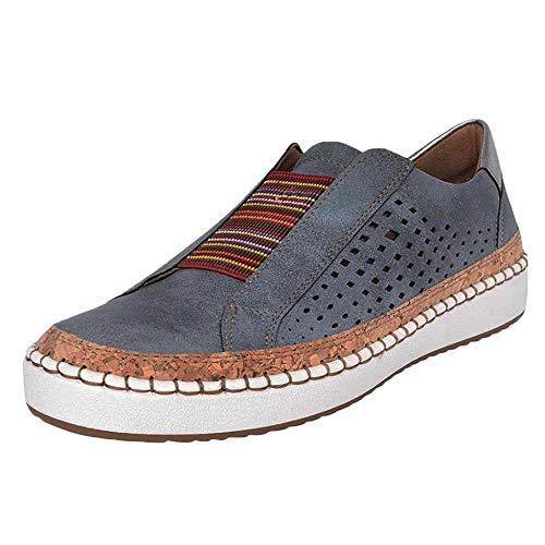 YEBIRAL Sneaker Damen Sportschuhe Outdoor Schuhe - Freizeit Atmungsaktive Schuhe - Turnschuhe Laufschuhe Sportschuhe Sneaker(40 EU,Dunkelblau)