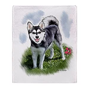 "CafePress Alaskan Klee Kai Soft Fleece Throw Blanket, 50""x60"" Stadium Blanket 8"