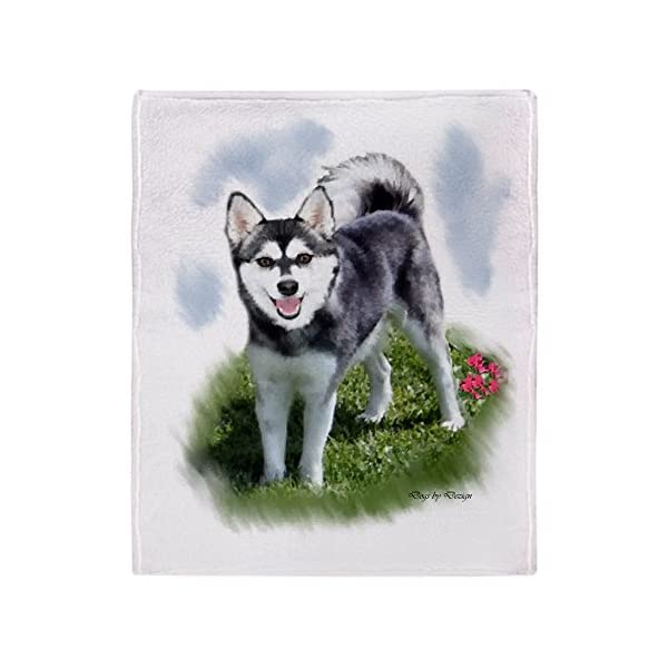 "CafePress Alaskan Klee Kai Soft Fleece Throw Blanket, 50""x60"" Stadium Blanket 1"