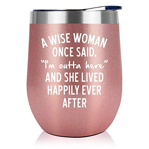 Retirement Gifts For Women 2021 - Retired Gifts For Women - Female Retirement Gifts - Coworker Leaving Gifts, Farewell Gifts, Goodbye Gift For Women, Colleagues, Coworkers, Friends - 12Oz Wine Tumbler