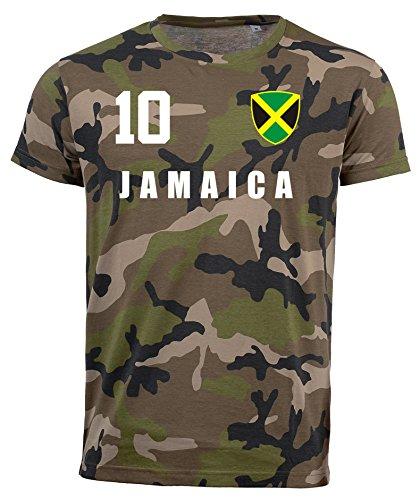 aprom Jamaika Camouflage T-Shirt - All-10 - Trikot Army Look WM World Cup Jamaica (M)