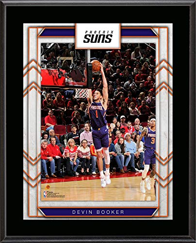 """Devin Booker Phoenix Suns 10.5"""" x 13"""" Sublimated Player Plaque - NBA Team Plaques and Collages"""