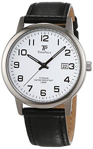 Time Piece Orologio da polso da uomo Titan al quarzo in pelle tpgt 50327–12L