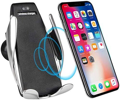 【2020年グレードアップ】ワイヤレス 充電器 車載ホルダー 急速ワイヤレス充電車載スタンド 無線急速充電 エアコン吹き出し口取付 360度回転重力 赤外線センサーによる自動開閉機能 Android/iPhone/Galaxy+ 他対応機種 (本体のみ)