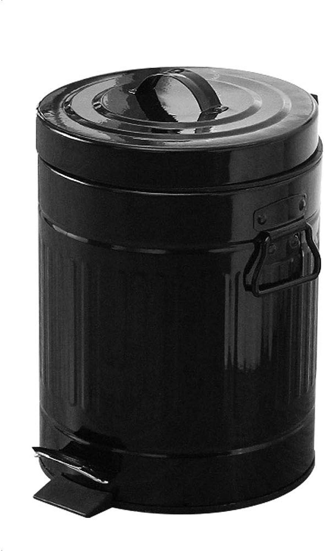 ahorra hasta un 70% LCTCLJT Cocina de Sala de bao bao bao Europea Creativa de 5L con pie Anti-Huella Digital Moda Creativa y Duradera (20  27 CM) (Color   Negro, Tamao   5L)  en stock