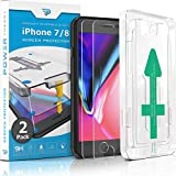 Power Theory iPhone 8 / iPhone 7 Glass Screen Protector [2-Pack]...