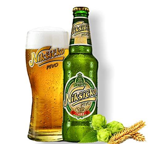 12 Flaschen Nikšićko Bier aus Montenegro mit 5% Alc. 0,33l Beer Pivo