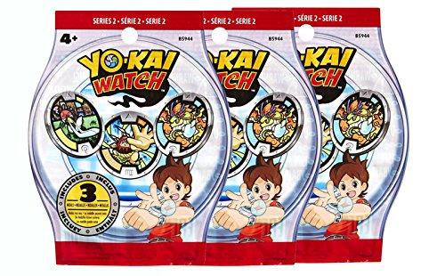 Yo-kai Watch Sachets de 3 médailles x3