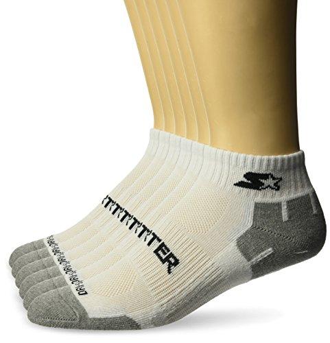 Starter Men's 6-Pack Quarter-Length Athletic Socks, Amazon Exclusive, White, Large (Shoe Size 9-12)