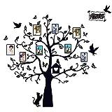 164x170cm (BxL) Wandaufkleber mit Bilderrahmen Fotobaum Wandtattoo Wandbilder Familie Baum Fotorahmen Abnehmbare Wohnzimmer Schlafzimmer Kinderzimmer Sofa Möbel Hintergrund Sticker