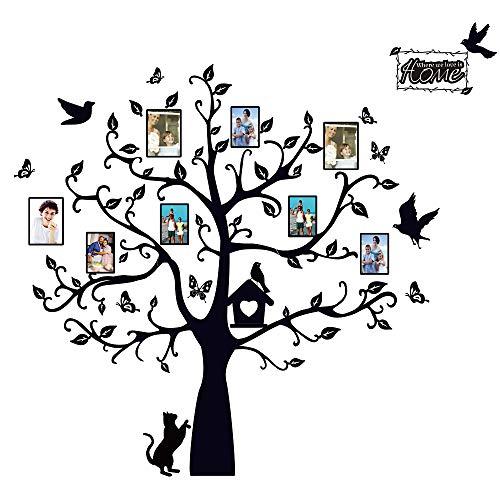Adesivi da Parete per Foto Muro Murali Adesivo Albero Decorativo Decorazione fai da te per Casa Famiglia Camera da Letto Soggiorno