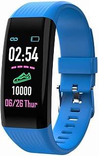 WJDZSB Smartwatch Impermeable Reloj Inteligente con Pulsmetro, Pulsera Inteligente para Deporte con Cronmetro, Podmetro Smartwatch Hombre Mujer Nios para Android IOSblue