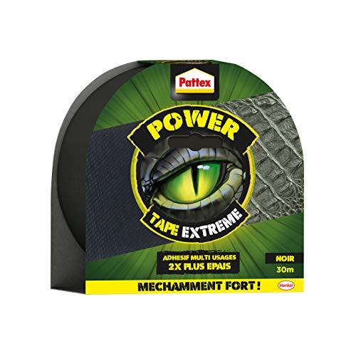 Pattex Power Tape Extremes Klebeband, 2 mal dicker und widerstandsfähig, extra klebendes Klebeband für Reparaturen, Klebeband, geeignet für viele Anwendungen, schwarz, 30 m