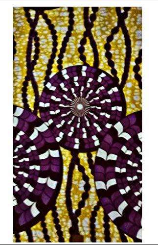 Maynowax loincloth African Wax Fabric Holland wax 100% owu 6 yards tabi 5,48M
