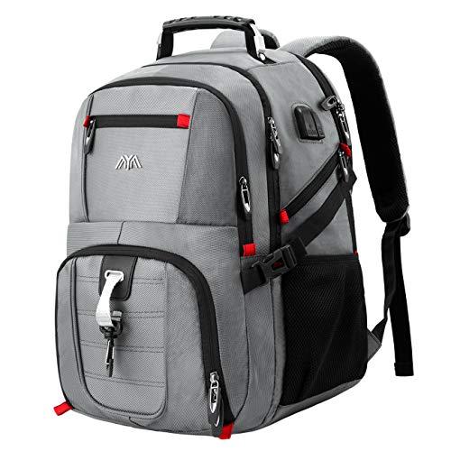 Schulrucksack Jungen Mädchen Teenager Rucksack Herren Damen für 15,6 & 17,3 Zoll Laptop (43cm) Rucksack Arbeit Wasserdicht Business Daypacks Großer mit USB