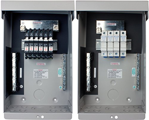 MidNite Solar MNPV6 Photovoltaic Combiner Enclosure Only; Includes 15 Position PV Negative Bus Bar, 14 Position Ground Bus Bar, 120 Amp Plus Bus Bar for Breakers and 80 Amp Bus Bar for Fuses