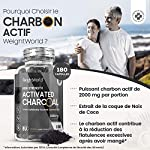 Charbon Actif Végétal 2000 mg 180 Gélules Vegan, Gaz et Ballonnement (EFSA), Testé en Laboratoire par Agrolab 100% Naturel, Charbon Végétal Poudre de Noix de Coco Extra Fort #2