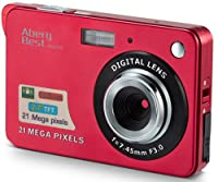 "AbergBest 21 Mega Pixels 2.7"" LCD Rechargeable HD Digital Camera,Video camera Digital Students cameras,Indoor Outdoor for Adult/Seniors/Kids (Black) by AbergBest"