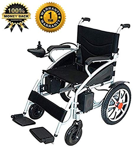 Culver Mobility Best Wheelchair 2020 New Electric Wheelchair Folding Lightweight Heavy Duty Electric Power Motorized Wheelchair Black (Free Wheelchair RAMP Gift) [Amazon Exclusive] (Black)