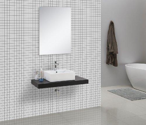 Waschtischkonsole CADENA 100 x 50 cm, Echtholz (schwarz)