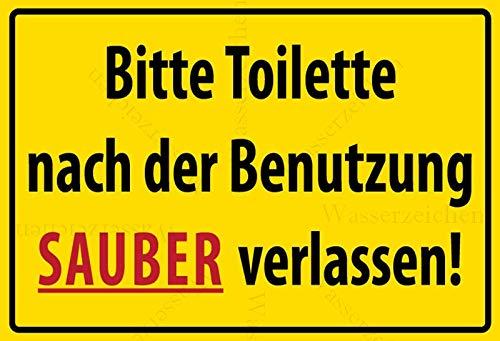 20cm! Aufkleber-Folie Wetterfest Made IN Germany WC Toilette Klo sauber halten Klobürste benutzen Toilettenregeln S947 UV&Waschanlagenfest-Auto-Sticker Decal Profi Qualität