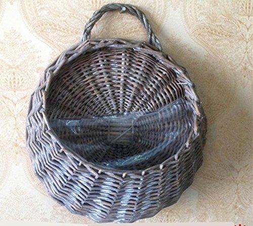 MHGAO Garland pianta appesi cestini, Vimini Tessuti a Mano a Parete Verticale da Giardino vasi da Fiori, Vivere Cesto di impianto al Coperto
