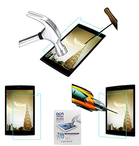 Acm Tempered Glass Screenguard Compatible with Micromax Canvas P802 Tab Screen Guard Scratch Protector