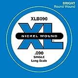 D'Addario XLB090 Nickel Wound Bass Guitar Single String, Long Scale, .090