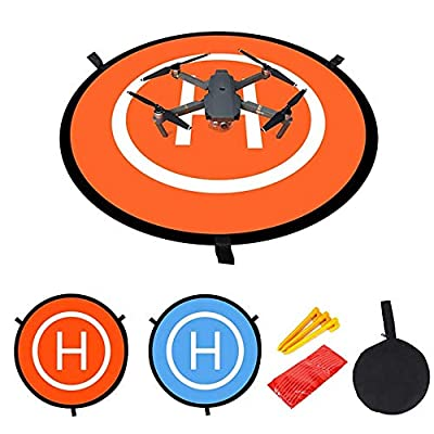 Drone Landing Pad, Universal Waterproof 55CM Portable Foldable Landing Pads for RC Drones Helicopter/PVB Drones/DJI Mavic Pro/Antel Robotic, Durable Foldable Waterproof Drone Accessories#WRJJLD by Gzweili