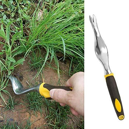 zapture Garden Weeding Removal Cutter Manual Weeders Root-Cutting Clamp Handle Scratch Garden
