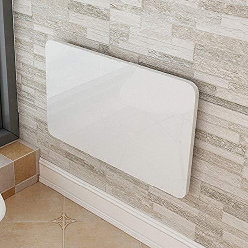 Plegable montado en la Pared Drop-Leaf Table Dining Computer Mesa de Escritorio Space Saver Fold Convertible Blanco (Color : Blanco, Tamaño : 90 * 50cm)
