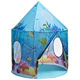 iBonny Ocean World Play Tent for Kids Sea World Playhouse Tent for Girls and Boys Pop Up Conveniently Folds Tent Toy for Indoor and Outdoor