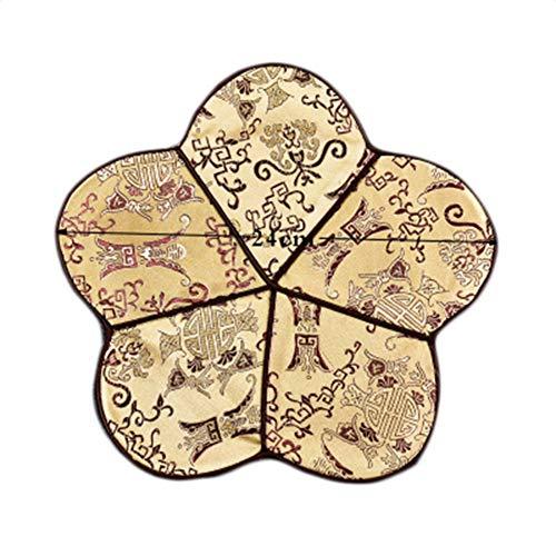 Goddness Bar Tapis de Plateau de thé en Tissu décoratif Coaster Retro Pad Tapis (Style 09)