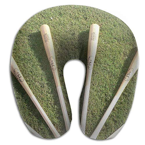 Ejdkdo Baseball Bats On Grass Print U Type Pillow Memory Foam Neck Pillow for Travel and Relief Neck Pain Fashion Super Soft Cervical Pillows