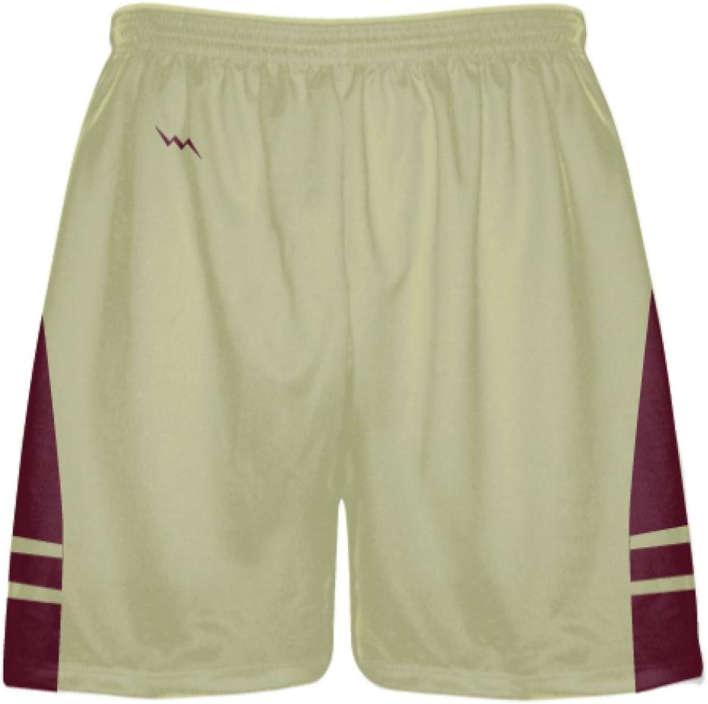 LightningWear Vegas gold Maroon Sublimated Lacrosse Shorts  Boys Mens Shorts