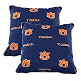 College Covers Auburn Tigers Outdoor Decorative Pillow Pair-(2) 16' x 16' Pillows, Blue