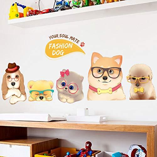 MMLFY Wandaufkleber Super süße Hunde Wandaufkleber Dein Seelenverwandter Mode Hund Schlafzimmer Nachttisch Arbeitszimmer Kleiderschrank Wohnkultur Aufkleber selbstklebend