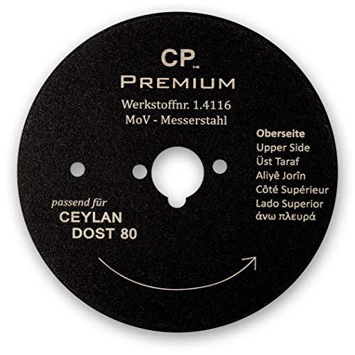 Für Ceylan Dost 80 mm Kreismesser mit Teflonbeschichtung Glatt Dönermesser Kebapblade