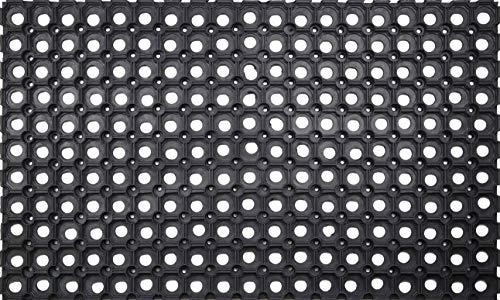 ID Mat M4575 Caillebotis Caoutchouc Noir 75 x 45 x 2,29 cm
