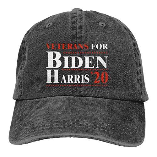 shenguang Veterans for Biden Harris 2020 Adjustable Vintage Washed Denim Cotton Dad Hat Baseball Caps Outdoor Sun Hat