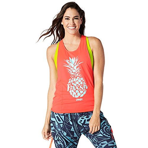 Zumba Loose Graphic Print Dance Fitness Tank Tops Activewear Workout Tops for Women