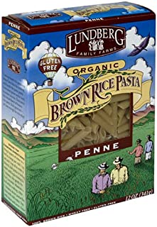 Lundberg Organic Penne Brown Rice Pasta, 12-Ounces (Pack of 12)