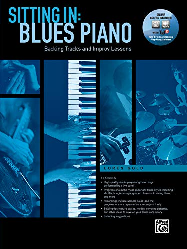 Sitting in -- Blues Piano: Backing Tracks and Improv Lessons, Book & Online Software/Media: Backing Tracks and Improv Lessons, Book & Online Audio/Software