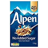 Weetabix Muesli Alpen No Added Sugar - Paquete de 6 x 1100 gr - Total: 6600 gr