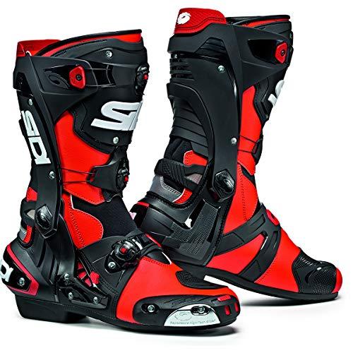 SIDI Rex 000MVREX Stivali per Moto, Rosso Fluo/Nero, 42