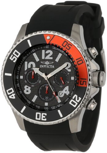 Invicta Men's 13727 'Pro Diver' Stainless Steel Watch with Black Band